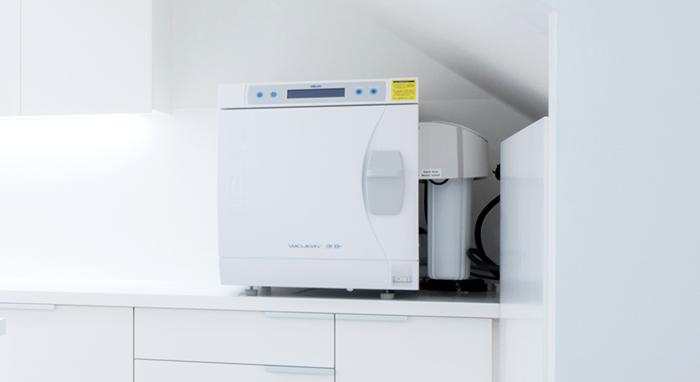 ヨーロッパ規格EN13060においてクラスB条件をクリアしたMELAG社製の滅菌器