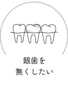 銀歯を無くしたい
